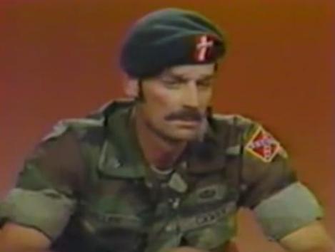 screeshot of Frazier Glenn Miller discussing his neo-Nazi beliefs