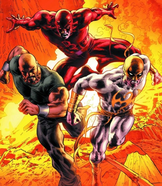 Marvel Comics Luke Cage Iron Fist Daredevil photo