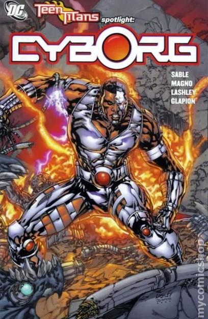 Teen Titans Justlice League Cyborg comic book cover