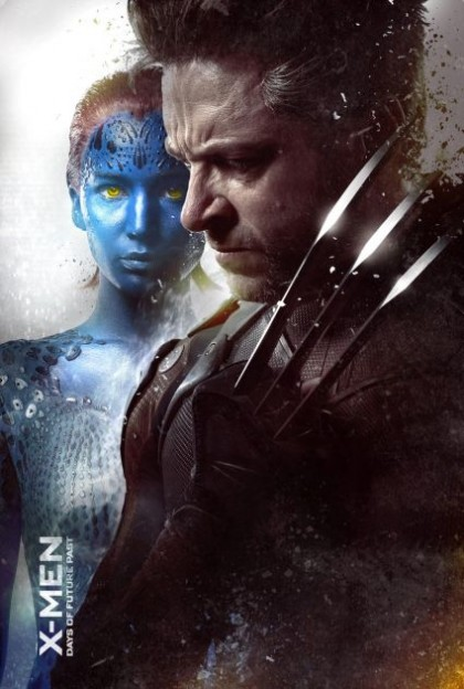 x-men-days-of-future-past-mystique-wolverine jennifer lawrence hugh jackman