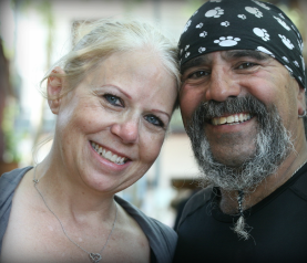 Debbie and Chico Jimenez  photo: Spreading the Word without saying a word