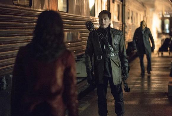 John Barrowman as Malcolm the Dark Archer Arrow season 2 photo