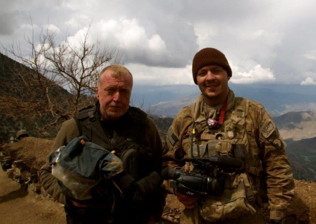 Mike Boettcher and Army Chaplain Justin Roberts