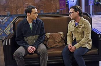 Sheldon Leonard train station Big Bang Theory photo Jim Parsons Johnny Galecki