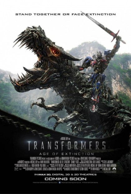 Transformers-age of extinction-poster-grimlock-optimus prime
