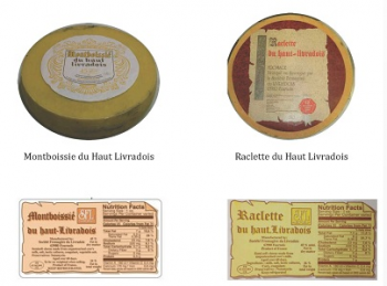 Haut Livradois brand Raclette and Montboissie cheeses  Image/FDA