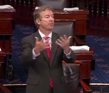 Rand Paul on Senate floor/Video Screen Shot