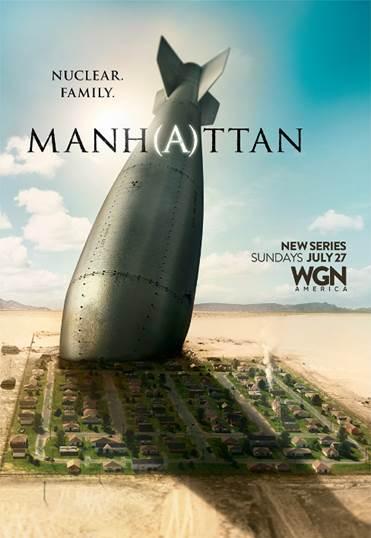 Atomic bomb in ground of city WGN Manhattan poster