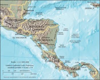 Central America map/CIA