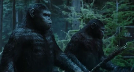 Caesar on horseback dawn of the planet of the apes