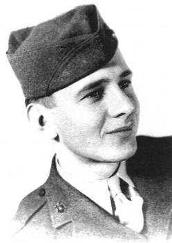 Edgar Harrell USMC photo 1945 photo/courtesy of Edgar Harrell