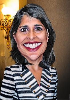 Gov Nikki Haley caricature