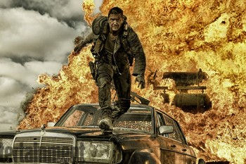 Tom Hardy Mad Max Fury Road explosion photo
