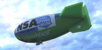 Airship flies over NSA Utah data center Image/EFF Video Screen Shot