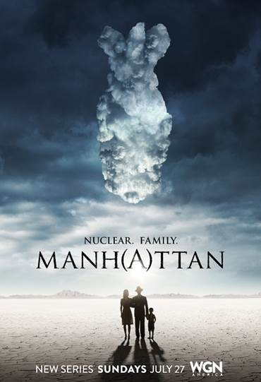 atomic bomb cloud Manhattan poster