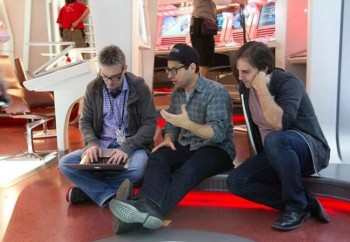 Roberto Orci (right, on the set of Star Trek Into Darkness) takes over in the director's chair