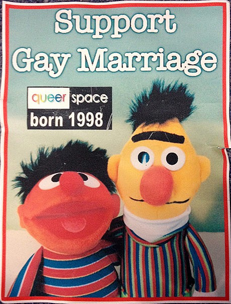 Bert Ernie Support Gay Marriage cake photo