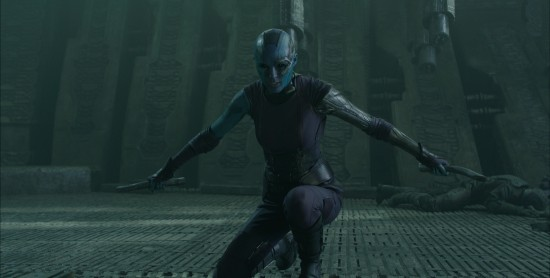 Guardians-of-the-Galaxy-Nebula with knives Karen Gillan