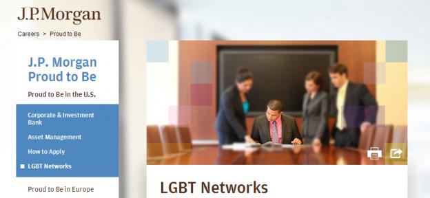 JP Morgan Chase LGBT Network screenshot