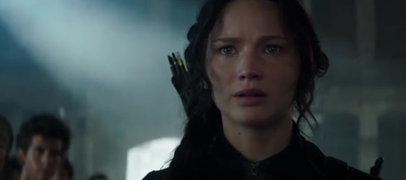 Jennifer Lawrence as Katniss Hunger games Mockingjay part one photo
