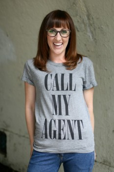 Kathy Searle call my agent shirt photo