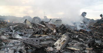 Malaysia Alrlines plane crash debris field photo/twitter