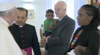 Pope Francis Meriam Ibrahim escape meeting at airport