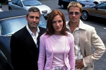ocean-s-eleven-2001 George Clooney Julia Roberts Brad Pitt