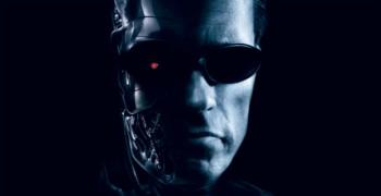 Arnold Schwarzenegger Terminator half face photo