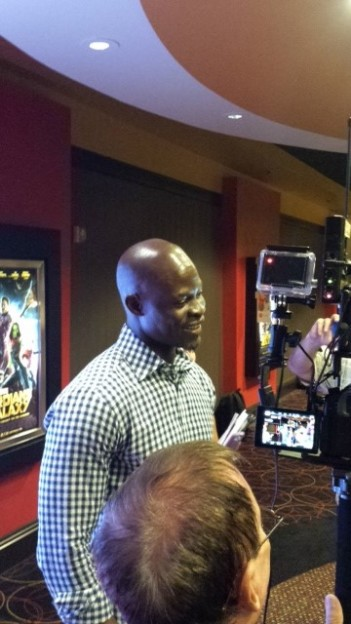 Djimon Hounsou Red carpet guardians of the galaxy event orlando