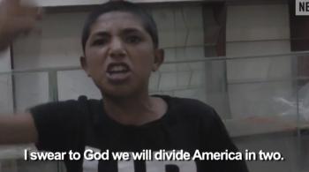 Islamic State boy in video threatens US America