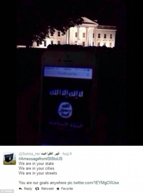 Islamic State flag in front of White House