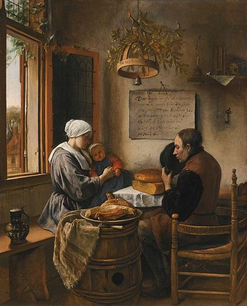 "Jan Havicksz. Steen:""The Prayer Before Meals"" paintedin 1660 photo/public domain"