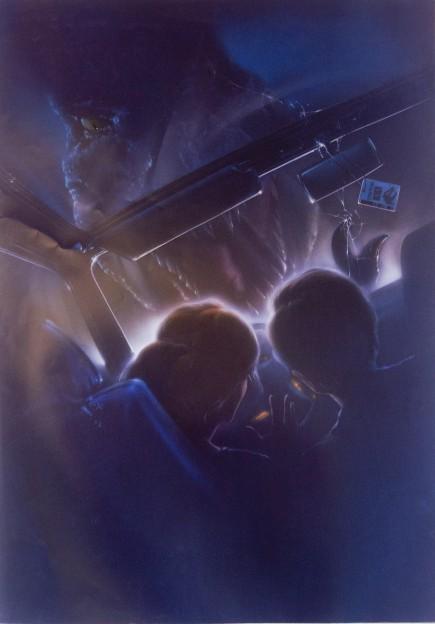 Jurassic Park concept art poster