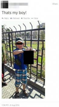 Khaled Sharrouf's son, age 7, with severed head