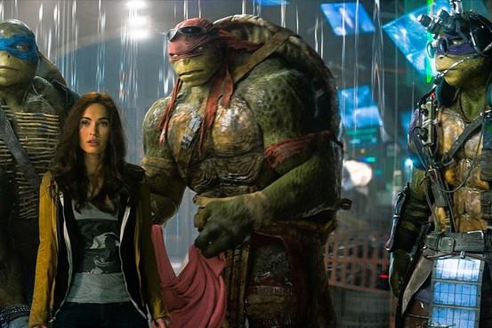 Megan Fox Teenage Mutant Ninja Turtles photo in rain