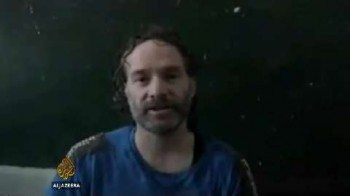 Peter Theo Curtis, screenshot from video released by al Jazeera in June