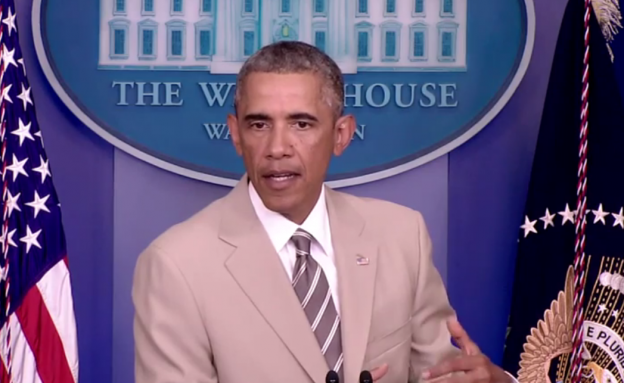 President Obama speaking on the economy, the crisis in Iraq and the Ukraine, Aug. 28, 2014 photo/whitehouse.gov