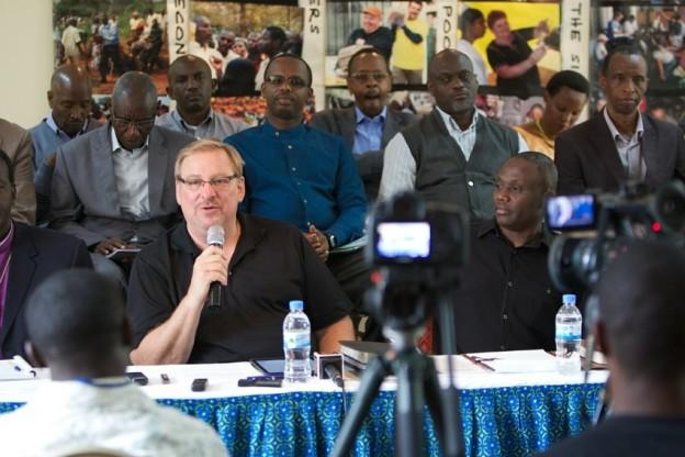 Rick Warren announcing the Purpose Driven Church event for Africa in 2015 photo/Saddleback Church/Scott Tokar