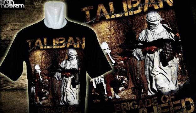 Taliban t-shirt for sale in Indonesia