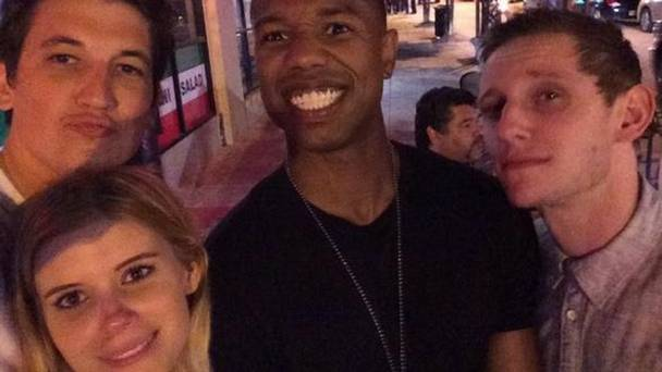 The new Fantastic Four, featured in this twitter pic as production wraps
