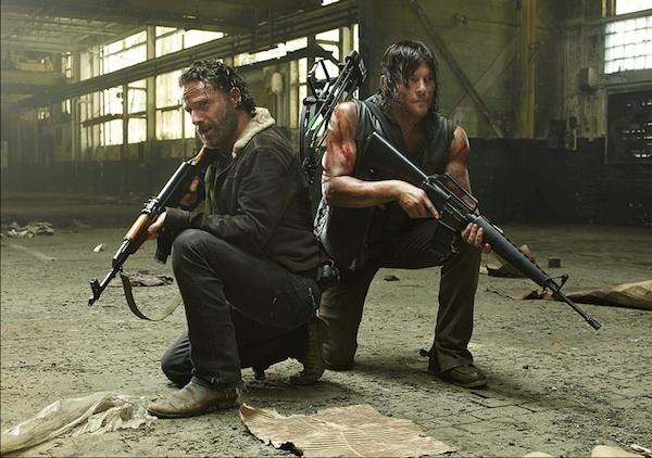 Andrew Lincoln Norman Reedus Walking Dead season 5 photo