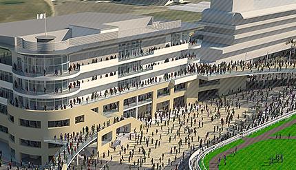 Cheltenham Racecourse redesign  photo/http://www.cheltenham.co.uk