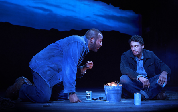 "Chris O'Dowd and James Franco in ""Of Mice and Men"" photo/Richard Phibbs via Fathom"