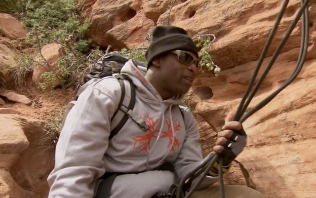 Deion Sanders Running with Bear Grylls praying in tongues