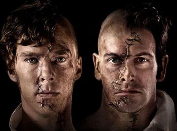Frankenstein banner Benedict Cumberbatch Jonny Lee Miller