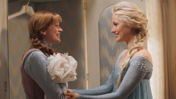 Georgina Haig as Elsa Anna  Elizabeth Lail Once Upon a Time season 4 photo