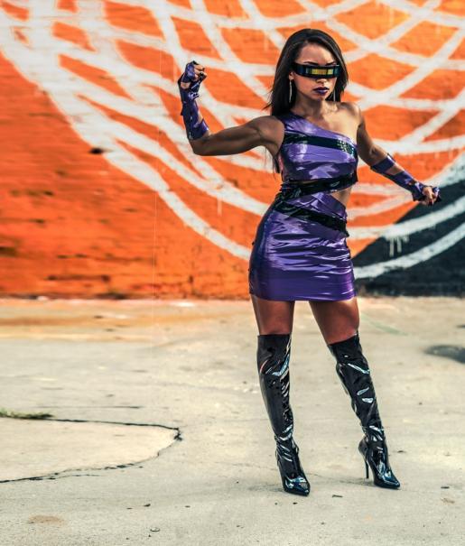 Powers photo purple costume