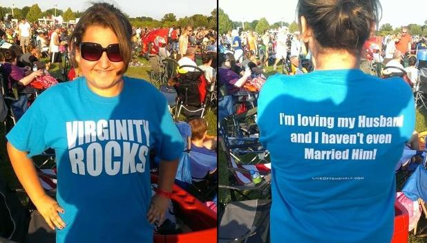 Virginity Rocks t-shirt facebook photo