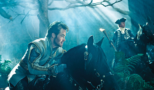 """Star Trek"" star Chris Pine as Cinderella's Prince in ""Into The Woods"""